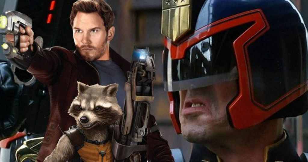 Chris Pratt and Sylvester Stallone for Guardians of the Galaxy