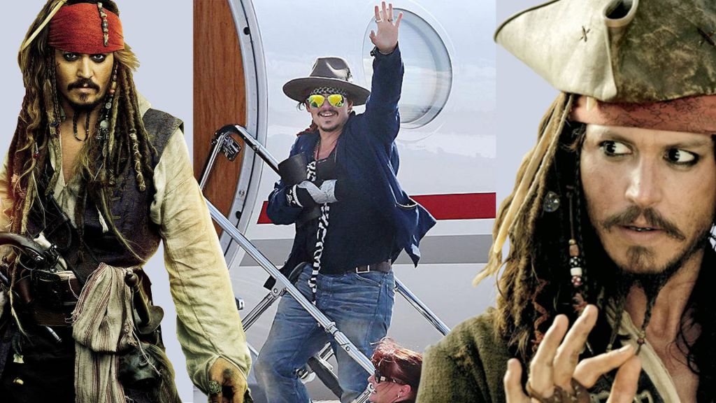 Johnny Depp Plane Pirates of the Caribbean Set