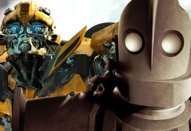 Transformers Retro Spinoff Bumblebee Compared To The Iron Giant