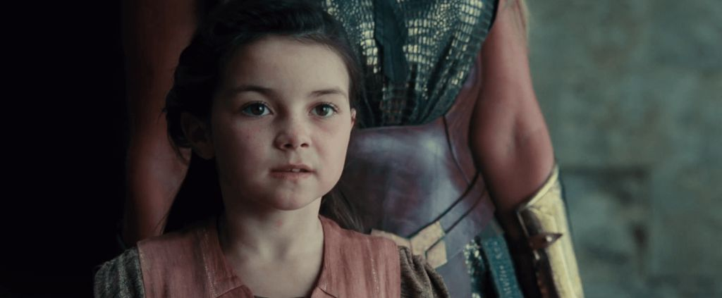 Young Diana in Wonder Woman