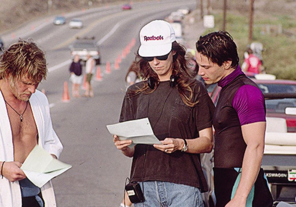 Kathryn Bigelow on Set of Point Break