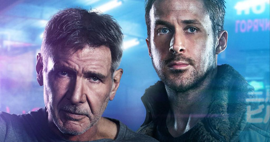 Gosling and Ford in Blade Runner 2049 Quad