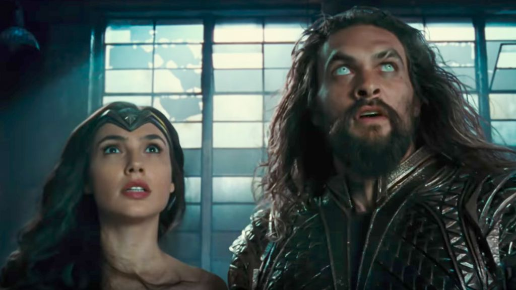 Aquaman and Wonder Woman in Justice League