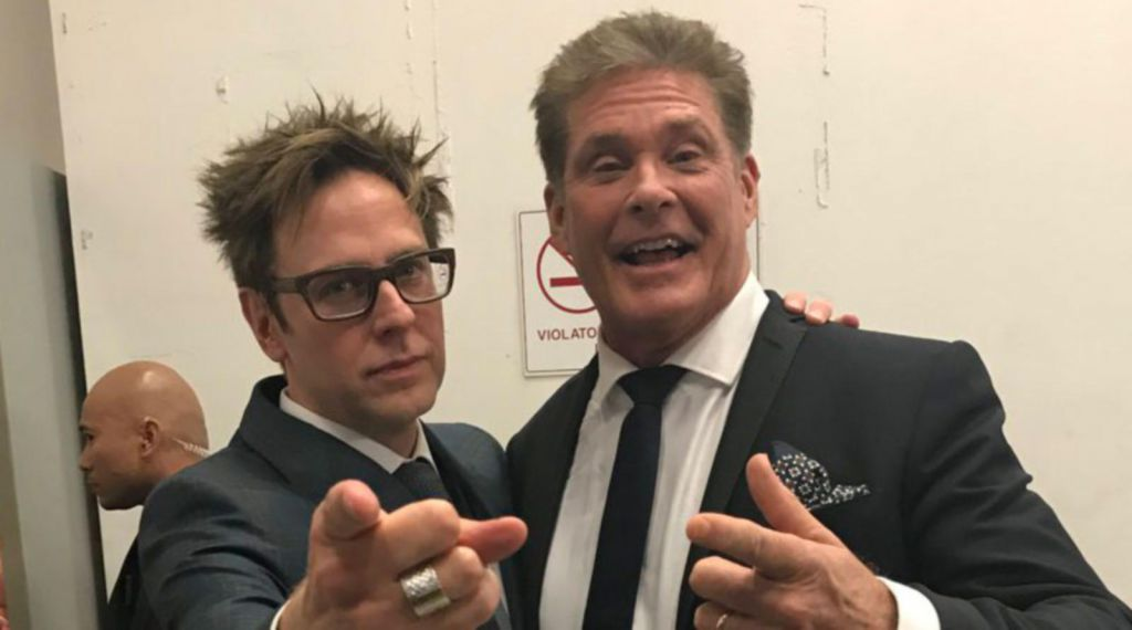 David Hasselhoff and James Gunn