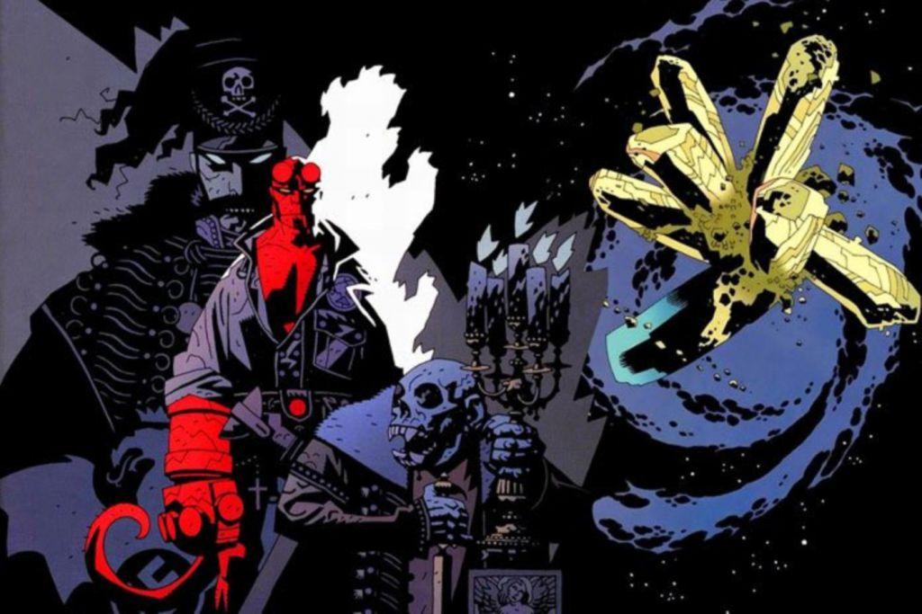 Hellboy Comic Blue Black