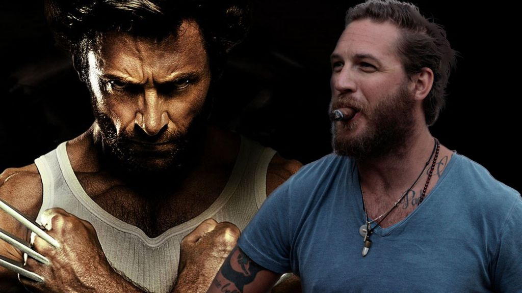 Hugh Jackman and Tom Hardy as Logan