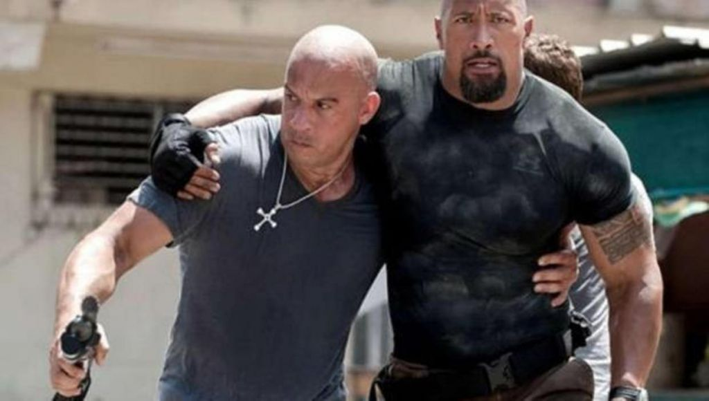 The Rock and Vin Diesel in Fast Five