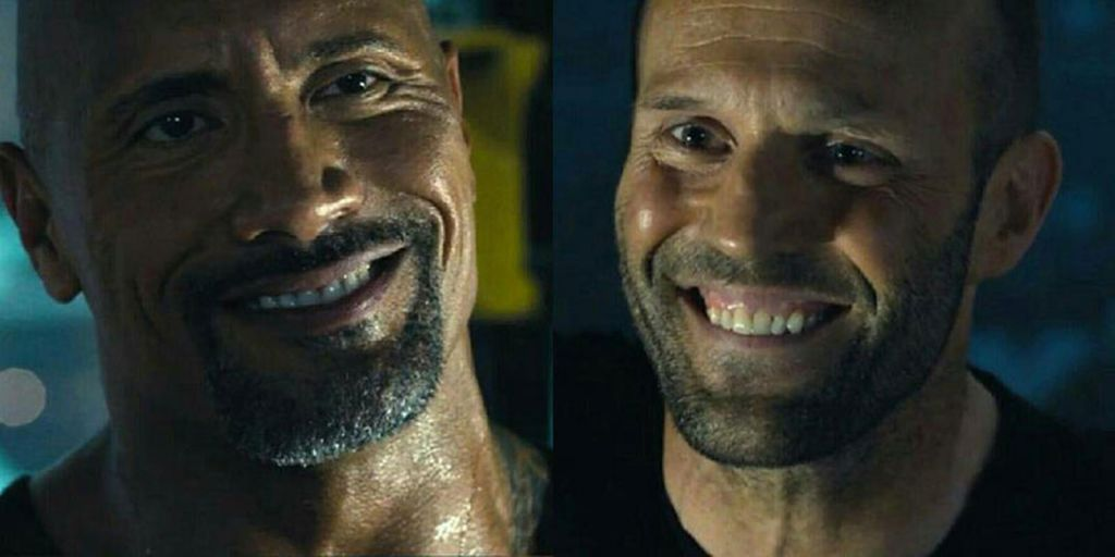 Luke Hobbs and Deckard Shaw in Fast and the Furious