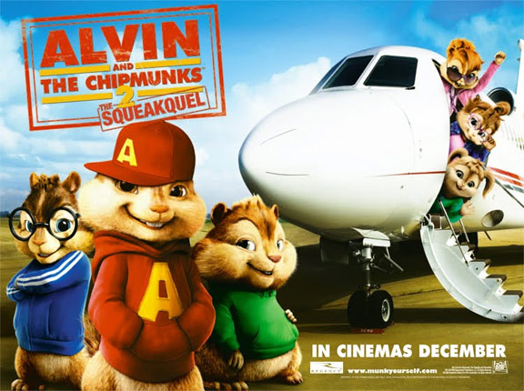 Alvin and the Chipmunks: The Squeakquel Poster #3