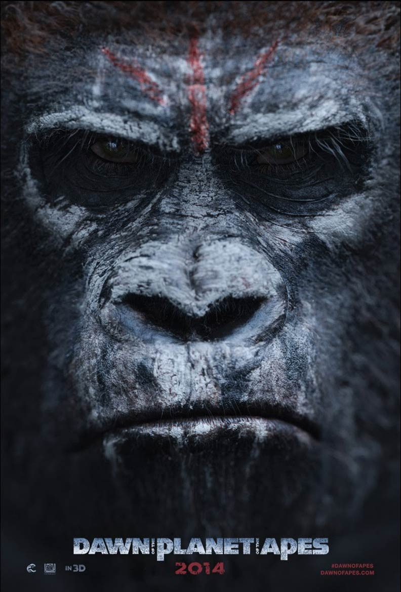 Dawn Of The Planet Of The Apes 2014 Poster 3 Trailer Addict