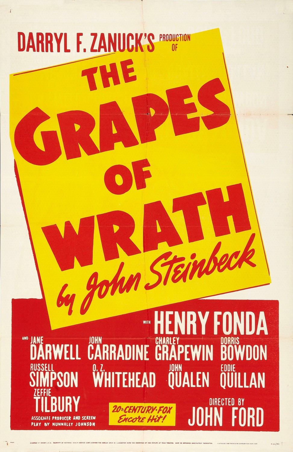 The Grapes of Wrath Poster #1