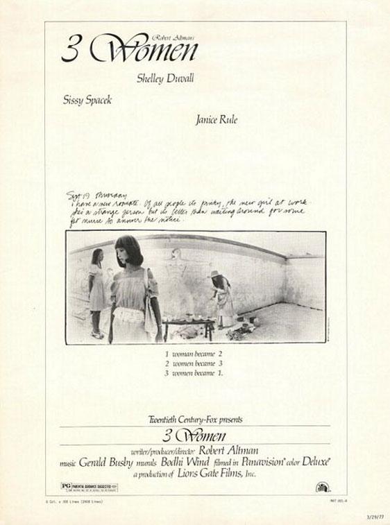 3 Women Poster #1