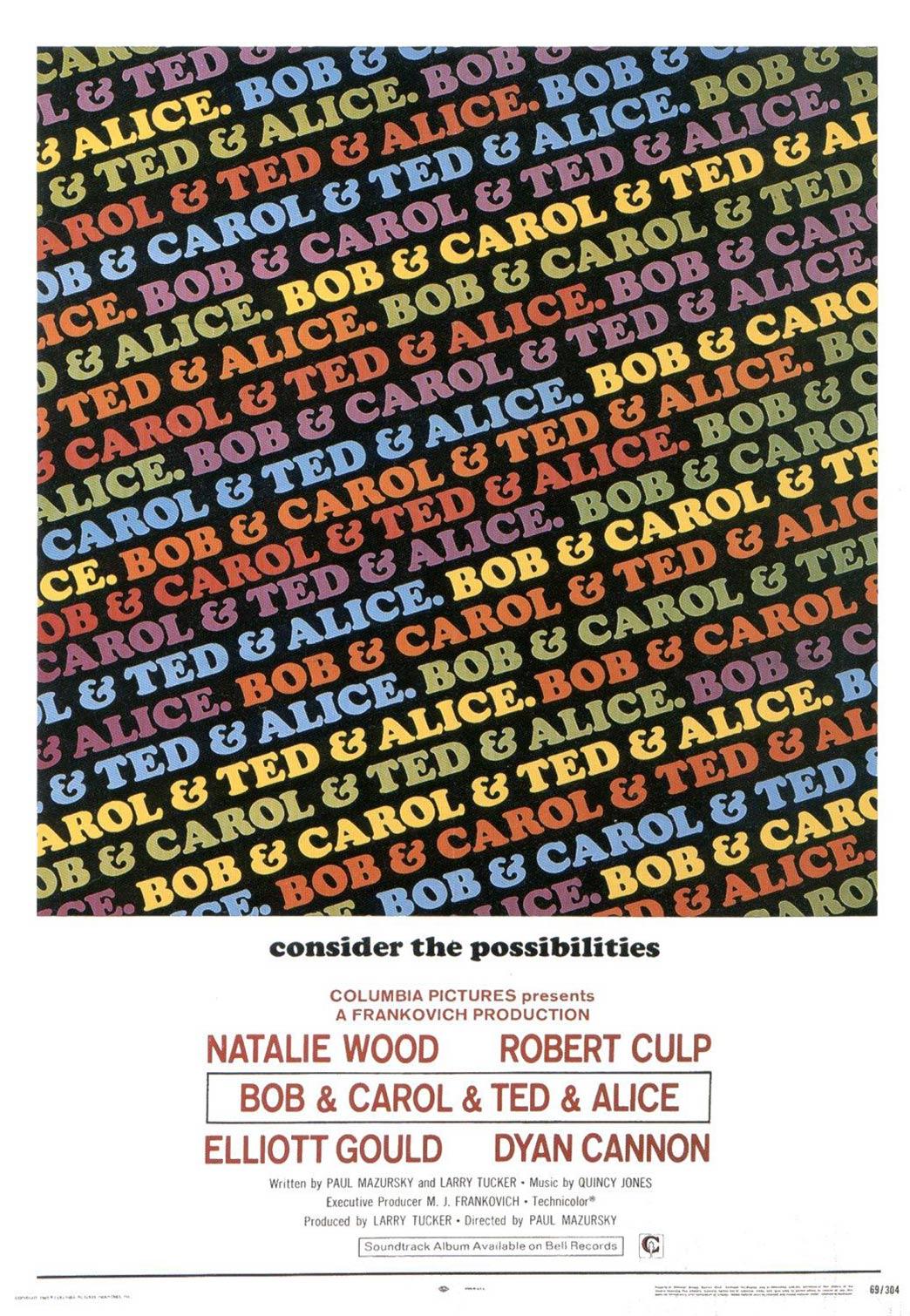 Bob & Carol & Ted & Alice Poster #2