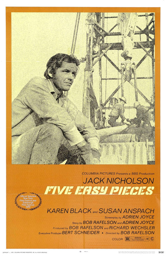 Five Easy Pieces Poster #1