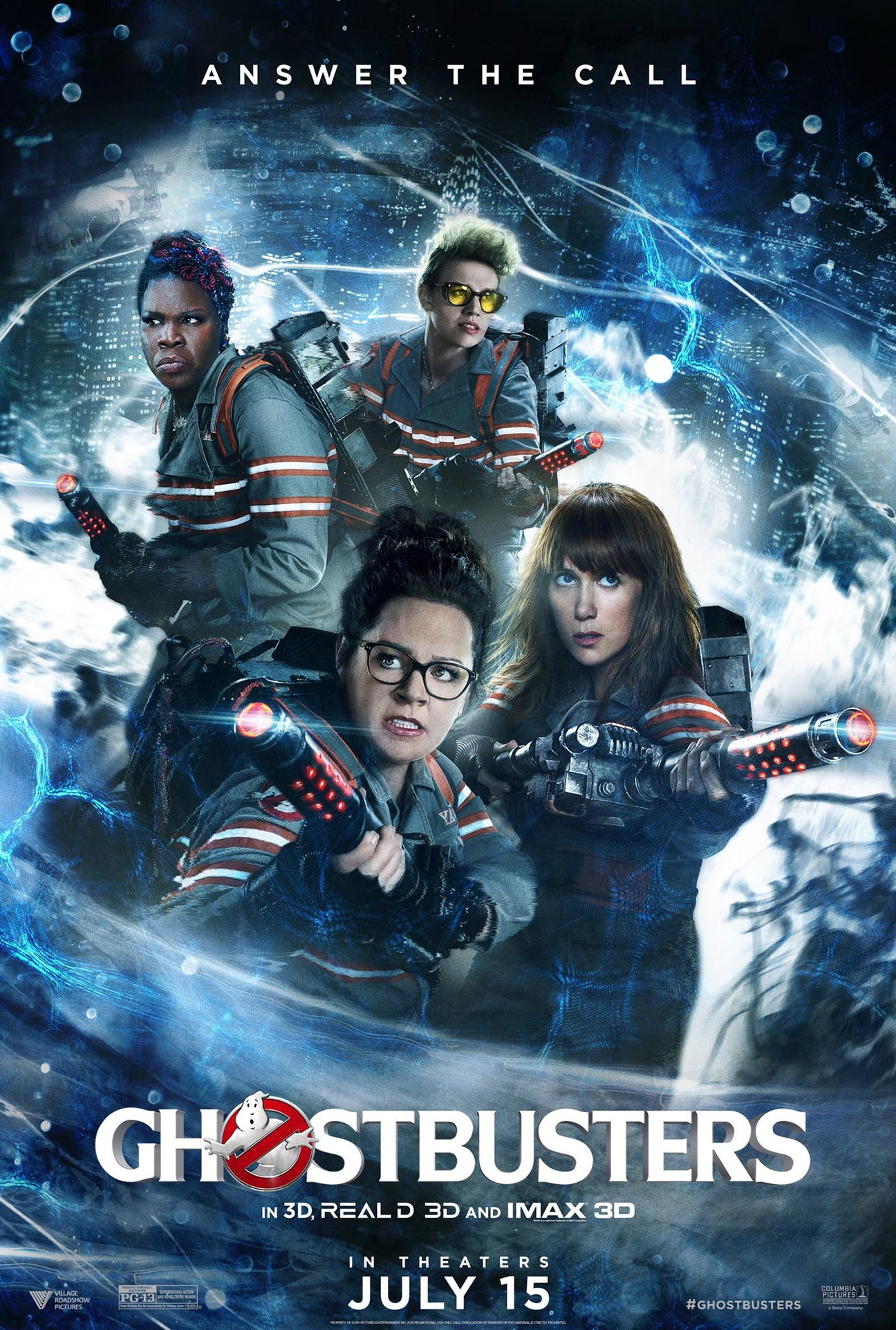 ghostbusters 2016 poster 1   trailer addict
