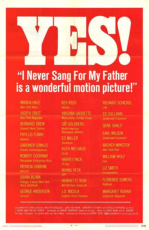 I Never Sang for My Father Poster #1