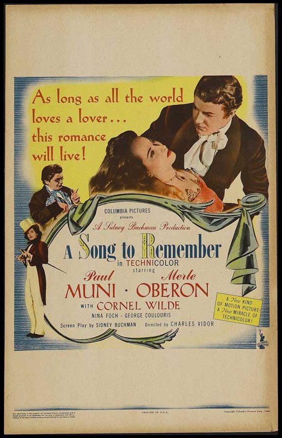 A Song to Remember Poster #1