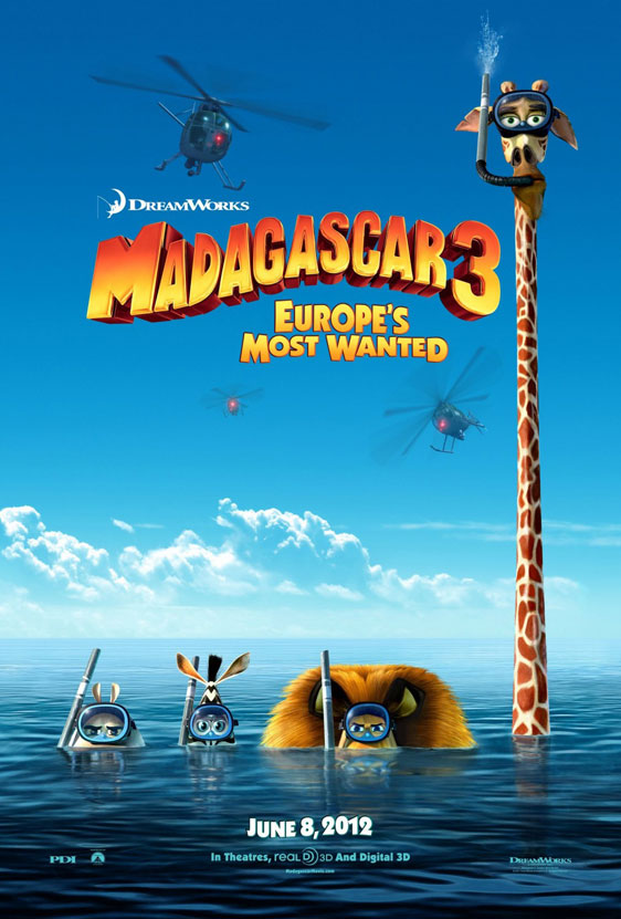 Madagascar 3: Europe's Most Wanted Poster #1