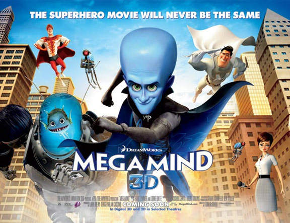 Megamind (2010) 720p + 1080p BluRay x264 ESubs Dual Audio [Hindi DD5.1 + English DTS 5.1] 830MB + GB Download | Watch Online