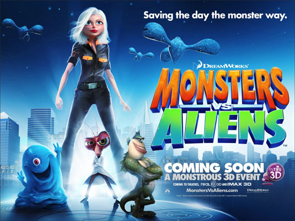 Monsters vs. Aliens (2009) Poster #12 - Trailer Addict