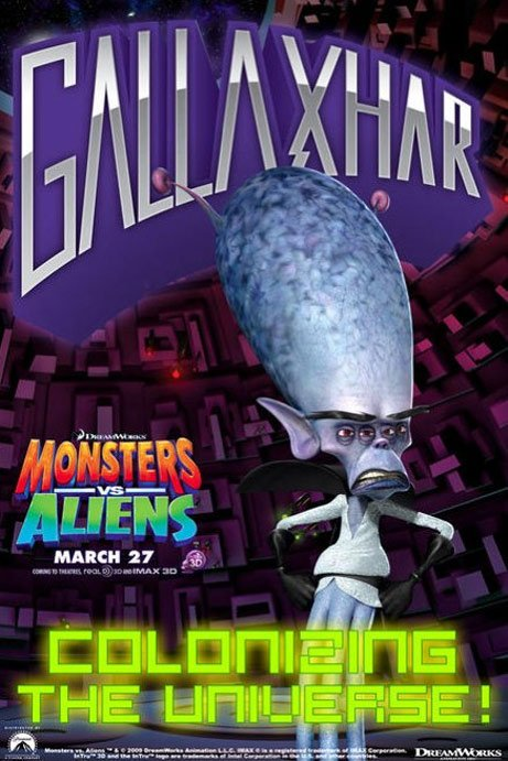 Monsters vs. Aliens Poster #6