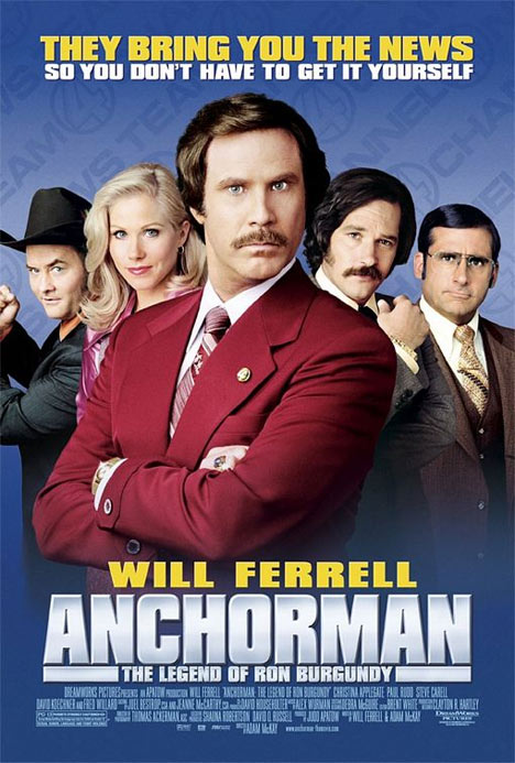 Anchorman: The Legend of Ron Burgundy Poster #1