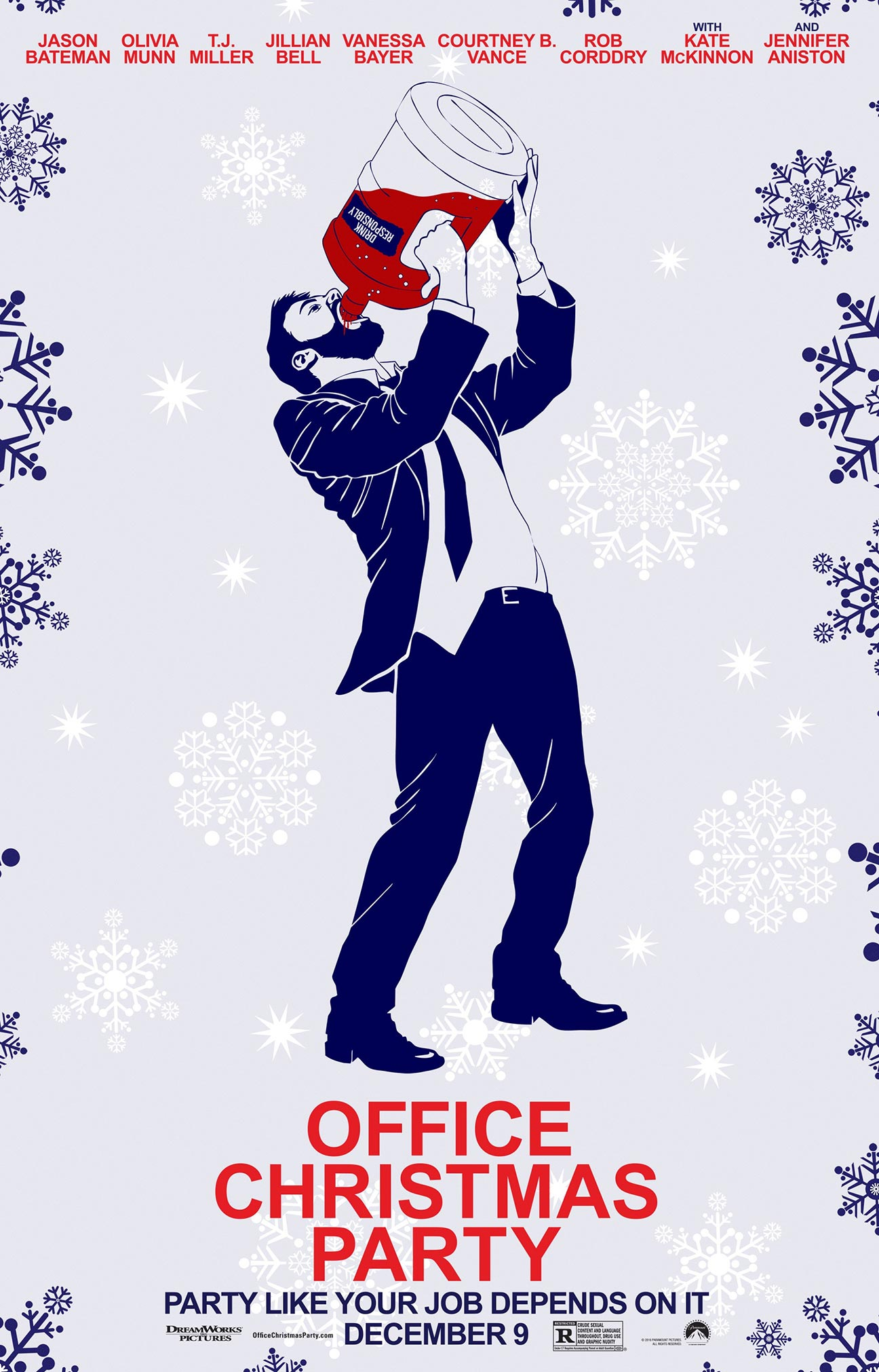 office christmas party  2016  poster  1