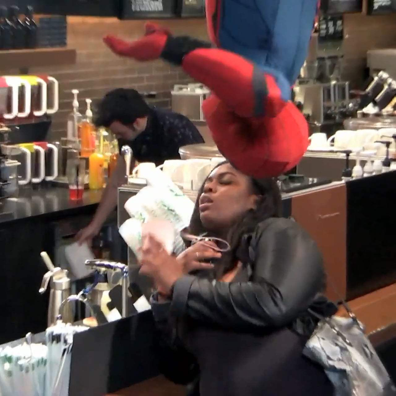 Spider-Man: Homecoming Viral - New York City Starbucks (2017) Screen Capture #3