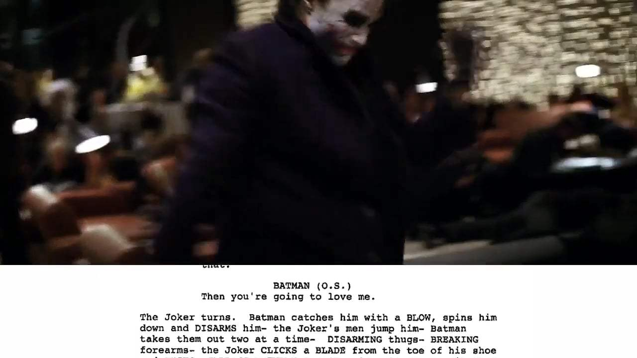The Dark Knight Featurette - From Script to Screen (2008) Screen Capture #3