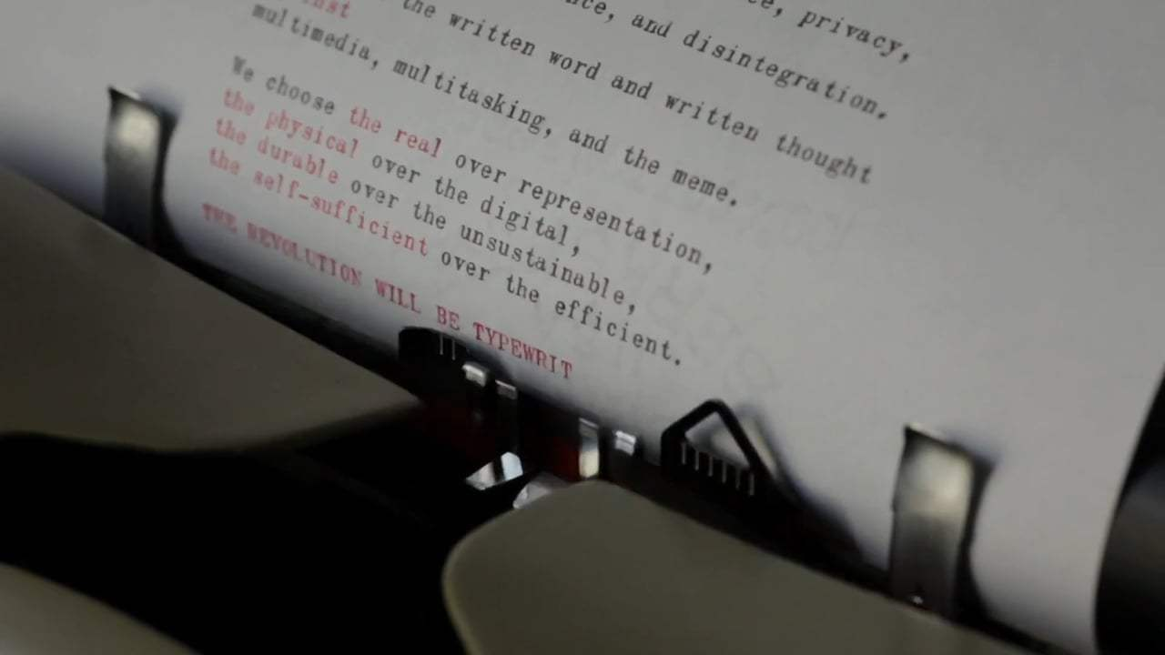 California Typewriter (2017) - Revolution Will be Typewritten Screen Capture #3