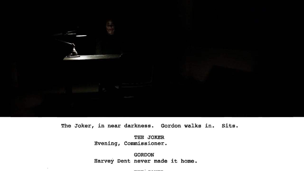 The Dark Knight Featurette - From Script to Screen: The Joker Interrogation Scene (2008) Screen Capture #1