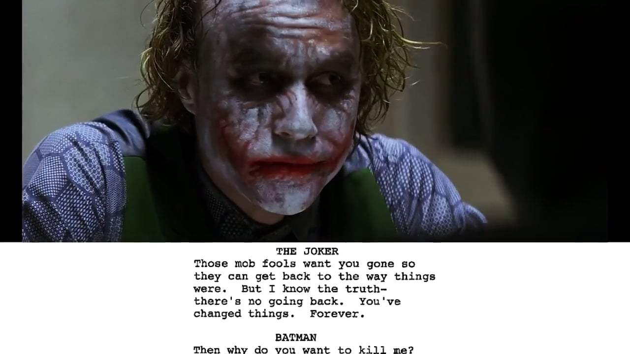 The Dark Knight Featurette - From Script to Screen: The Joker Interrogation Scene (2008) Screen Capture #3