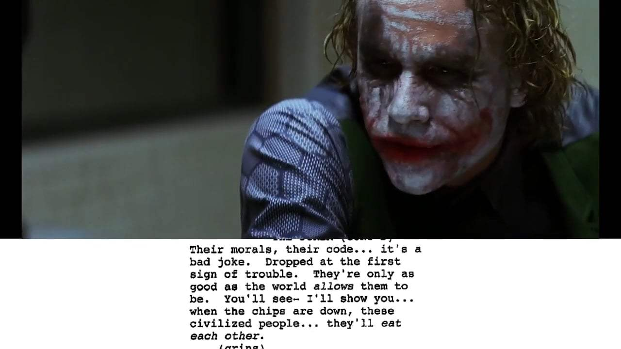 The Dark Knight Featurette - From Script to Screen: The Joker Interrogation Scene (2008) Screen Capture #4