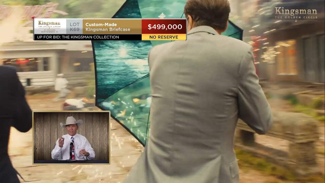 Kingsman: The Golden Circle TV Spot - Kentucky Auctioneer (2017) Screen Capture #3