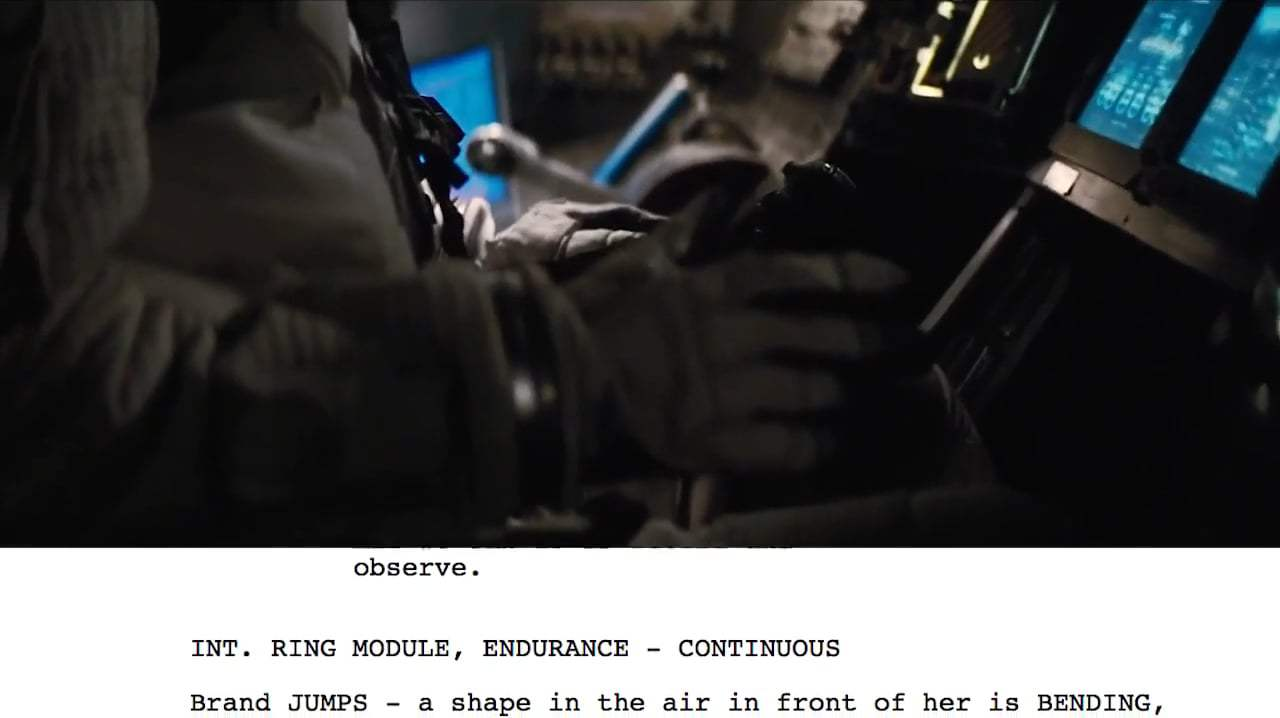 Interstellar Featurette - From Script to Screen: Dr. Brand First Handshake (2014) Screen Capture #3