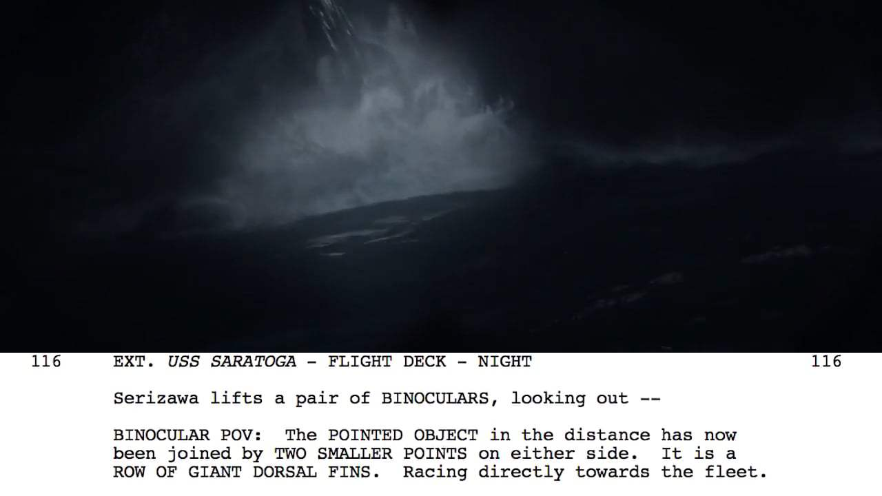 Godzilla Featurette - From Script to Screen: Tidal Wave Scene (2014) Screen Capture #2