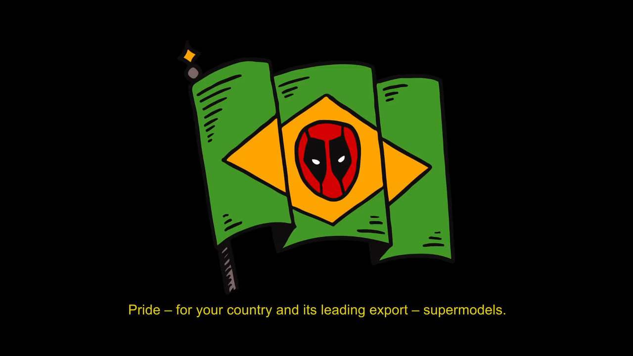 Deadpool 2 Viral - Brazil Comic Con Tattoos (2018) Screen Capture #3
