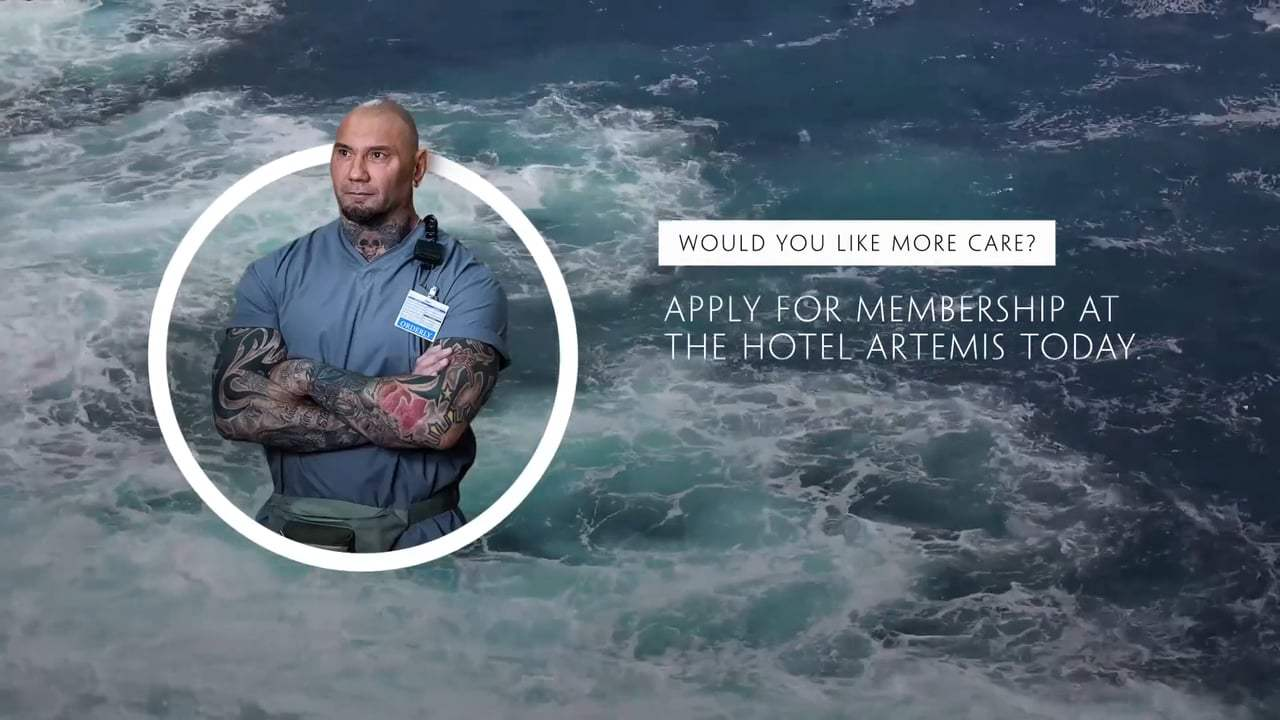 Hotel Artemis Viral - Dave Bautista's Guide to Mindful Meditation (2018) Screen Capture #4