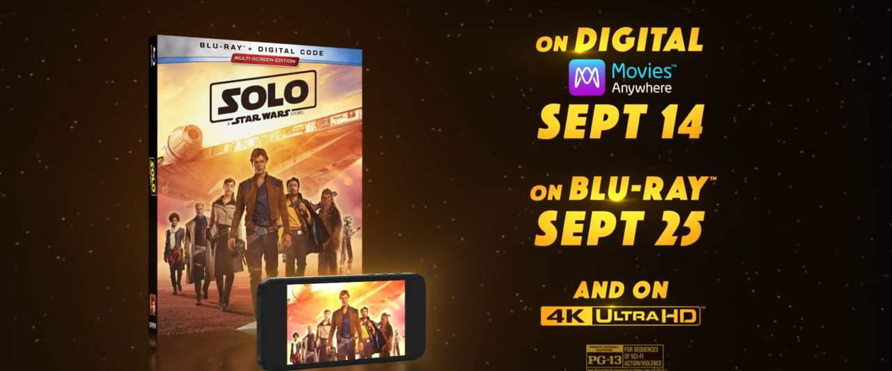 Solo: A Star Wars Story Blu-Ray Trailer (2018) Screen Capture #4