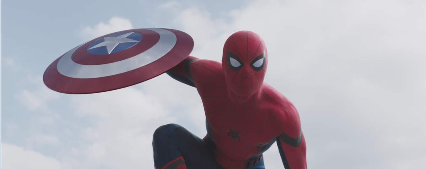 Captain America: Civil War Trailer Screencap of Spider-Man