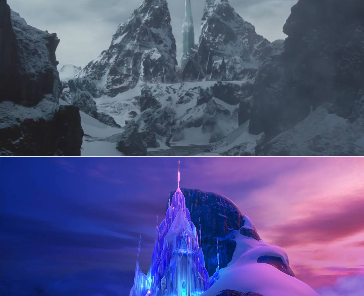 The Huntsman Winters War and Frozen Ice Castles