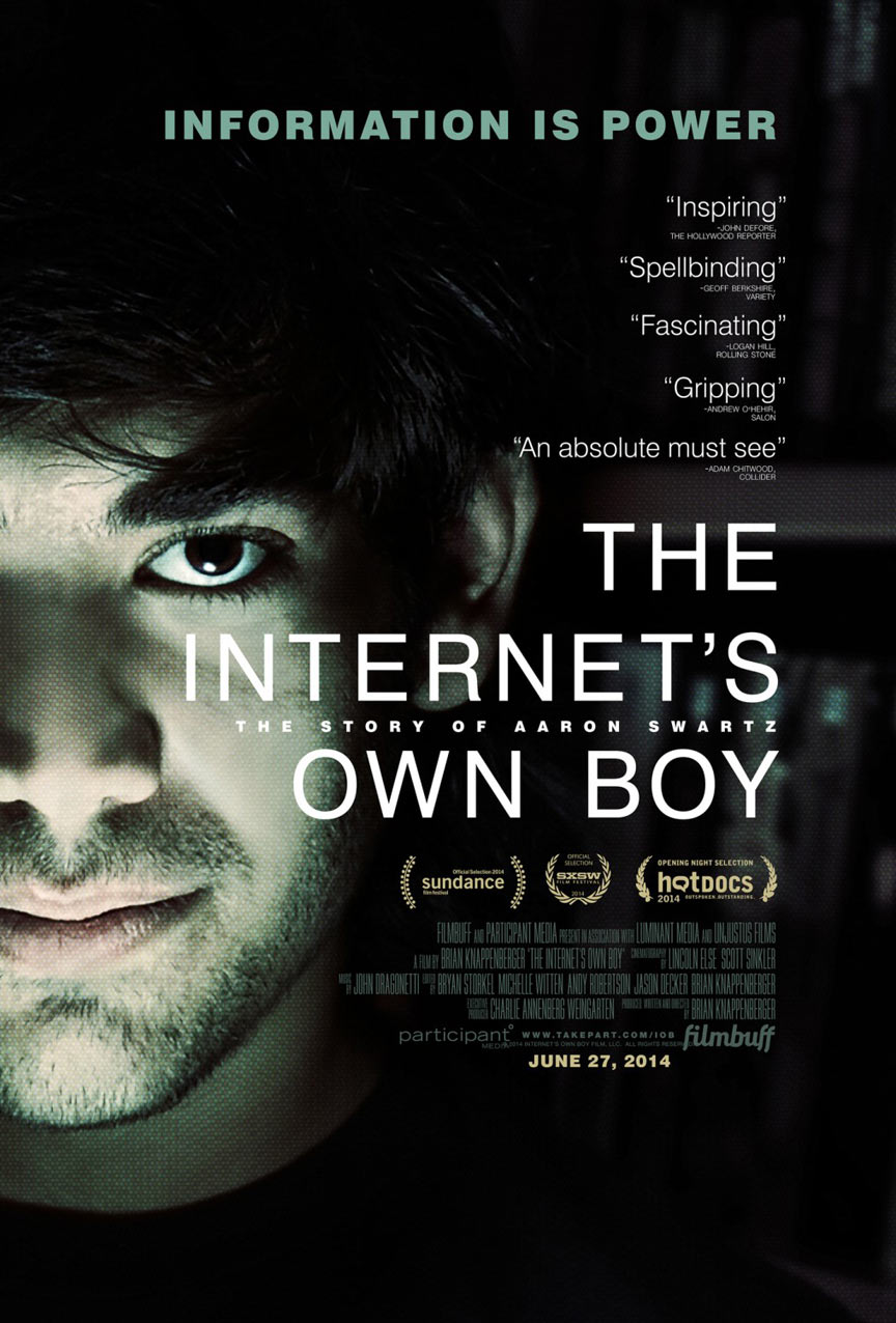 The Internet's Own Boy: The Story of Aaron Swartz Poster #2