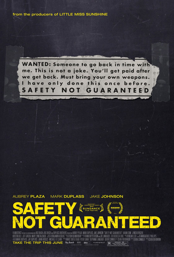 Safety Not Guaranteed Poster #2