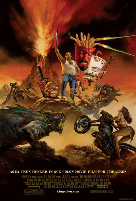 Aqua Teen Hunger Force Colon Movie Film for Theaters Poster #1
