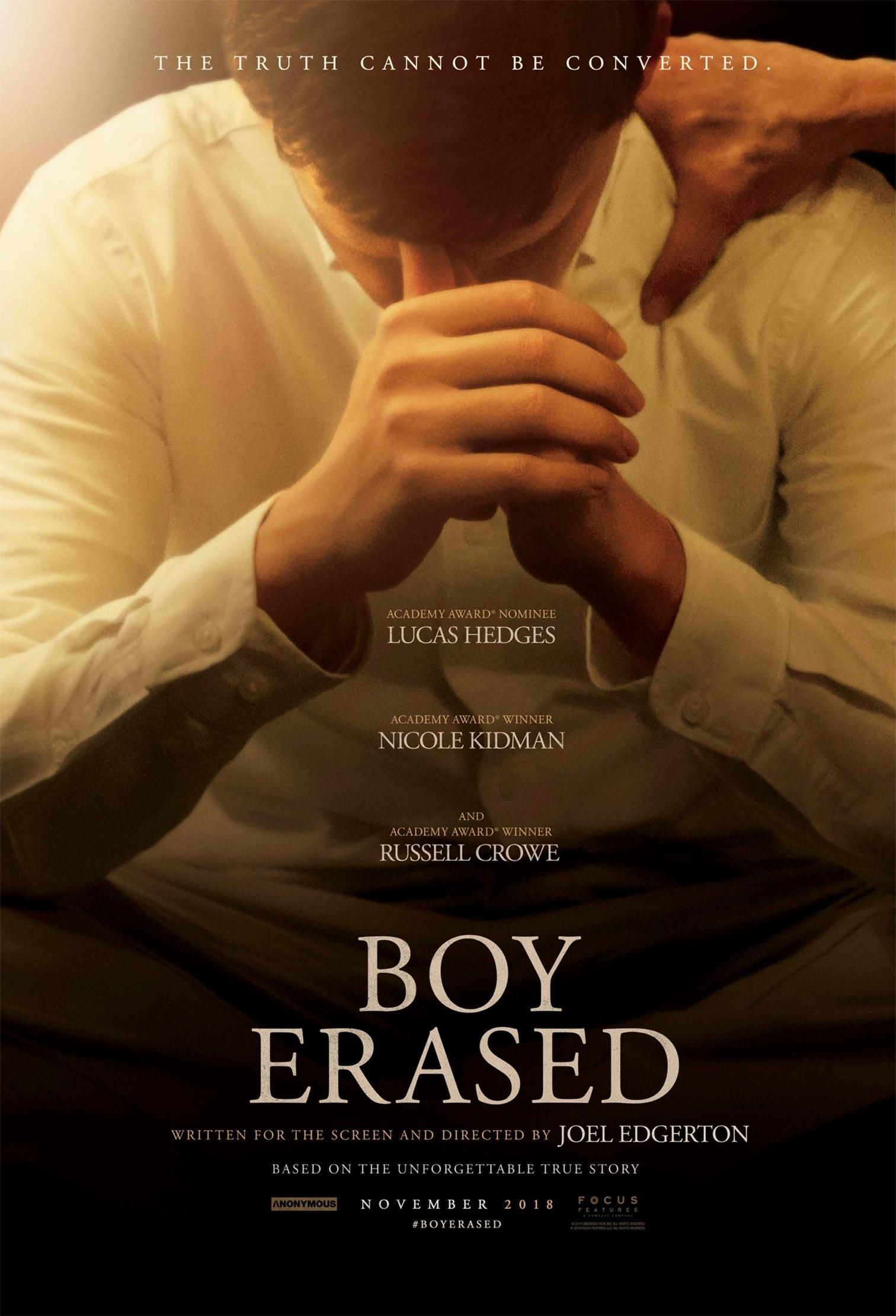 Boy Erased Poster #1