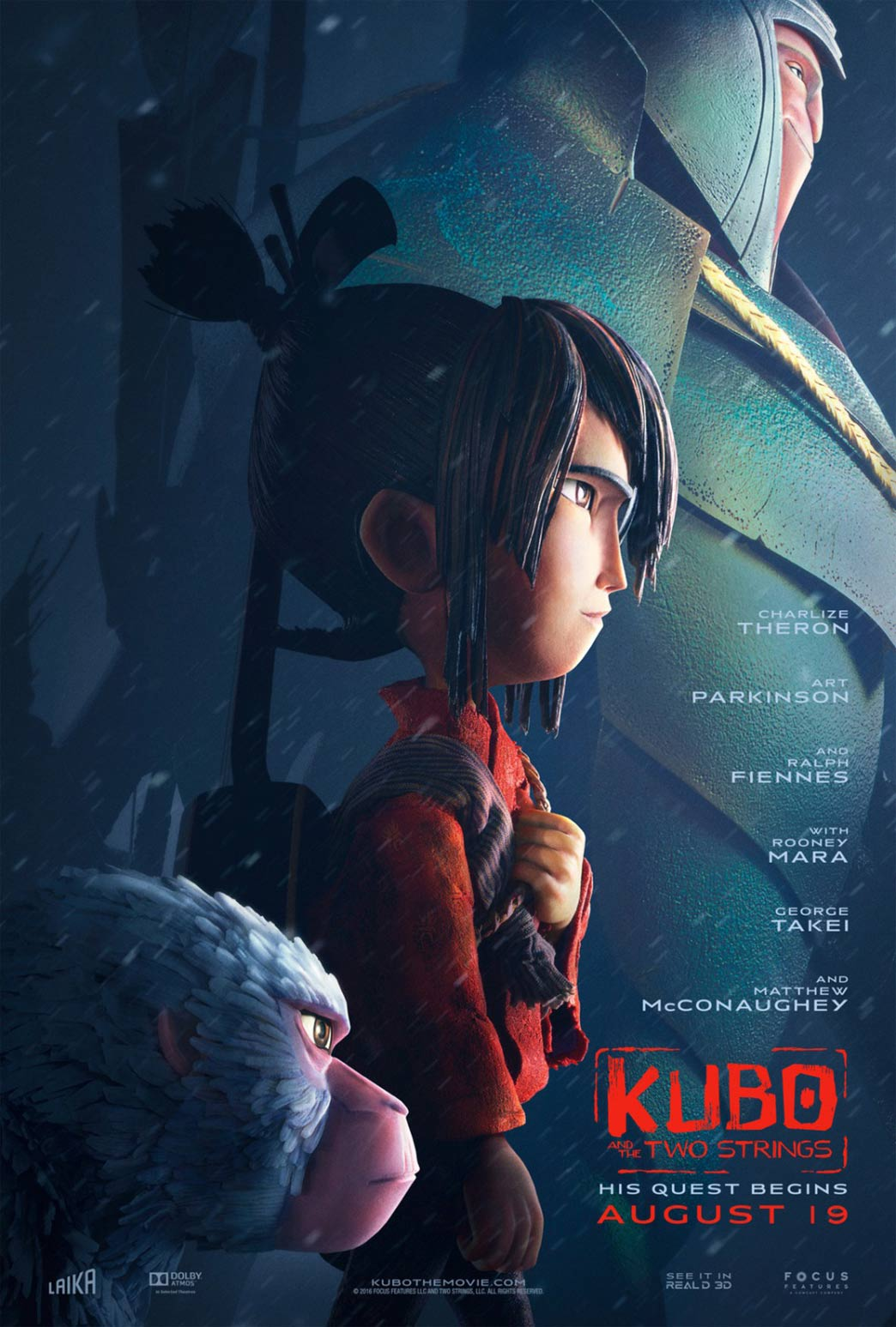 Kubo and the Two Strings Poster #13