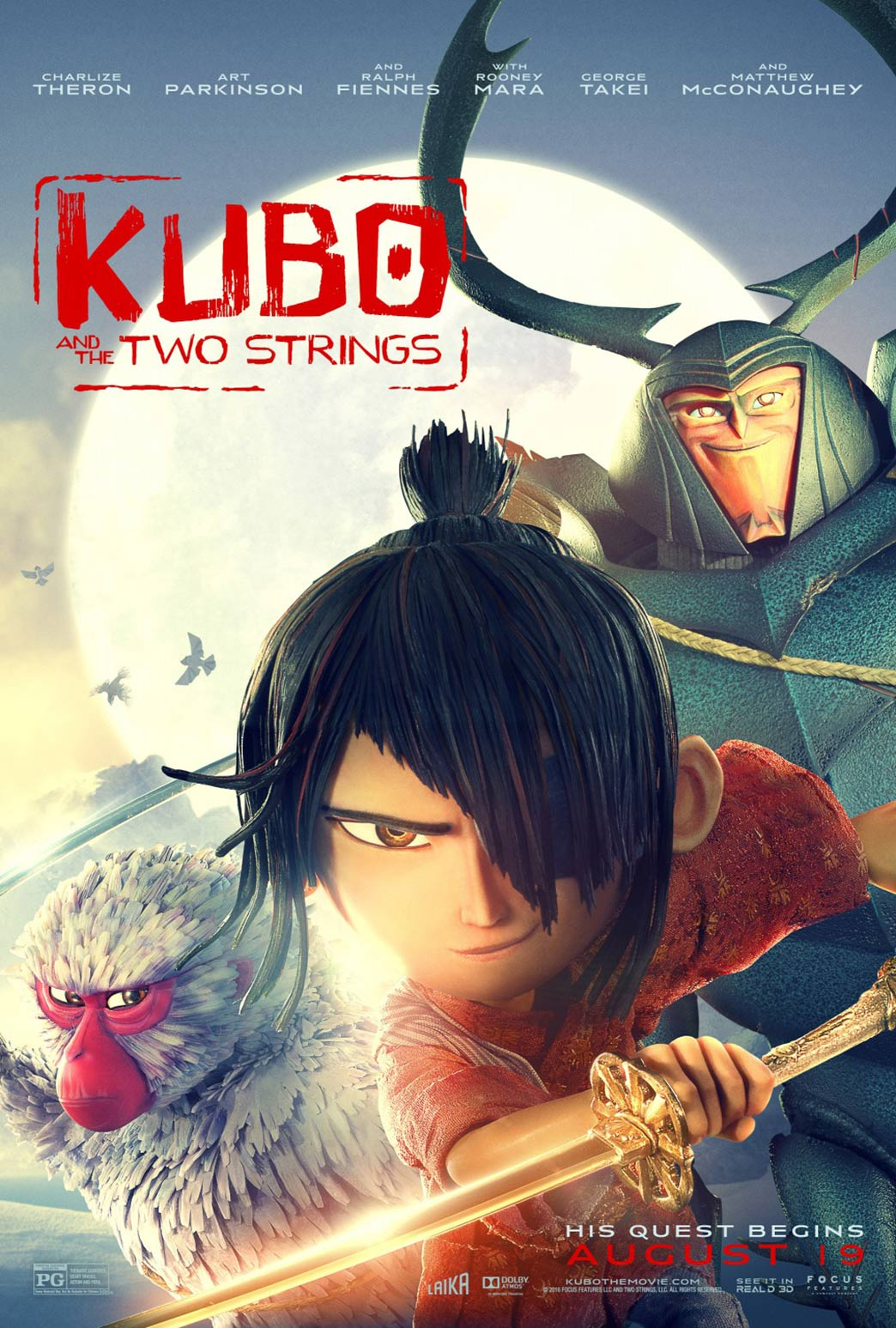 Kubo and the Two Strings Poster #14