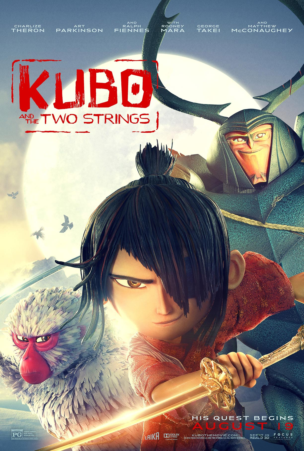 Kubo and the Two Strings Poster #8
