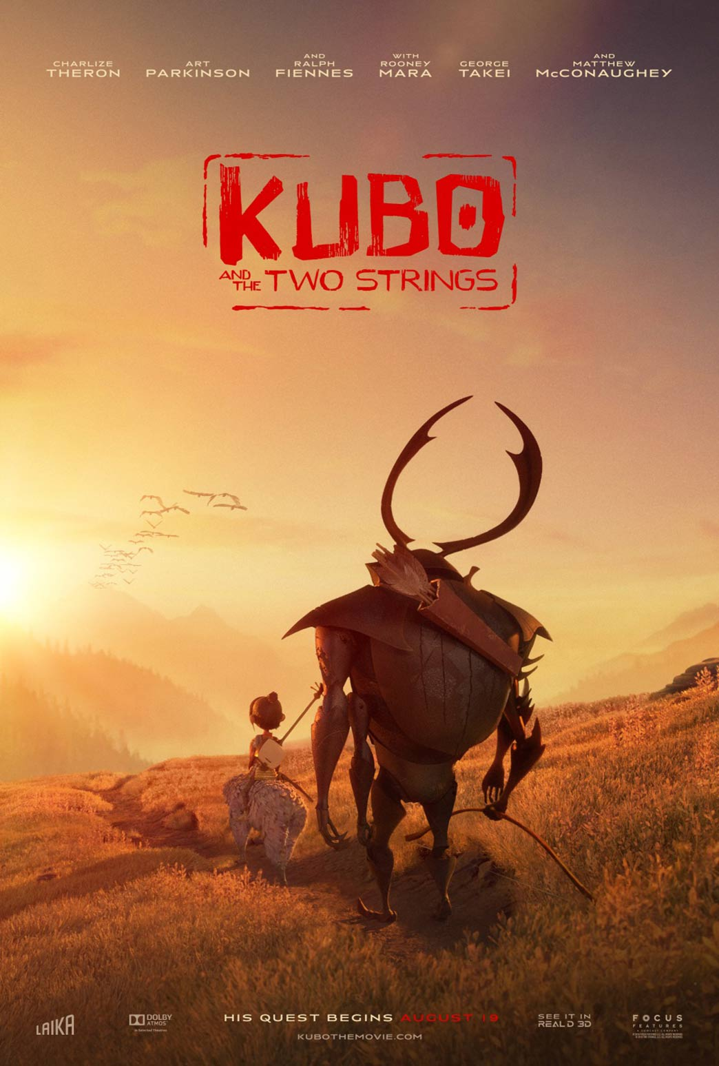 Kubo and the Two Strings Poster #9