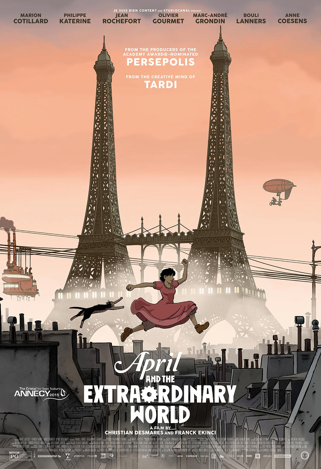 April and the Extraordinary World Poster #1